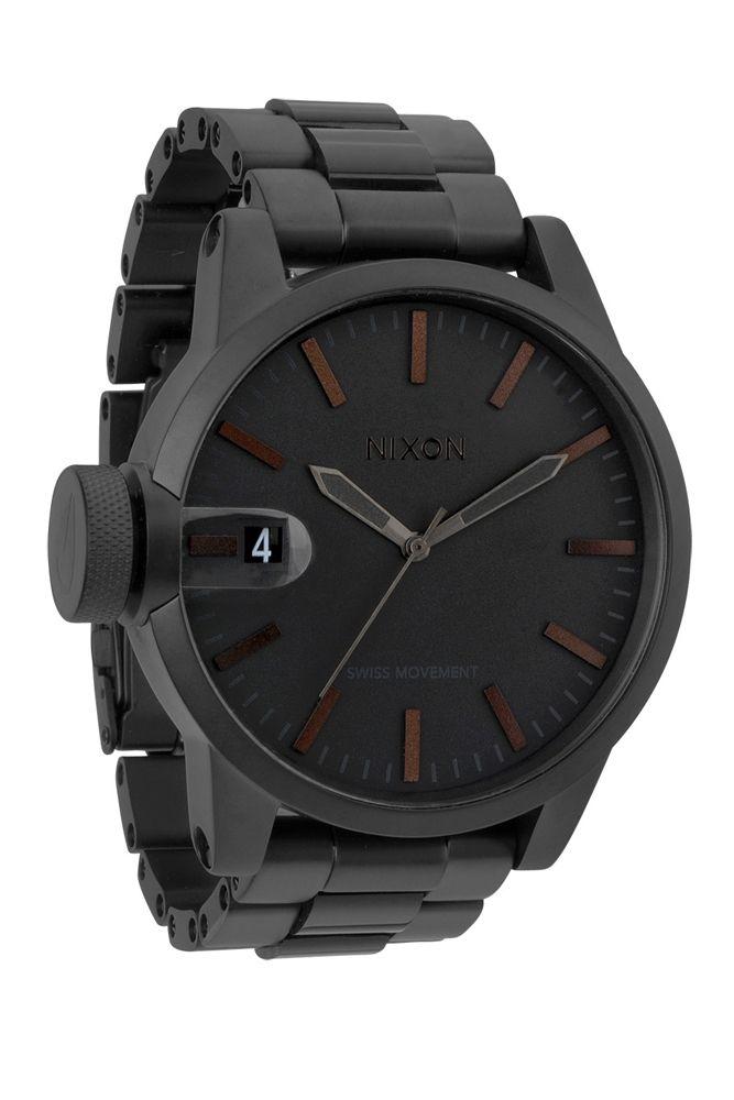 nixon - the chronicle ss watch (matte black / dark tortoise) - Nixon | 80's Purple