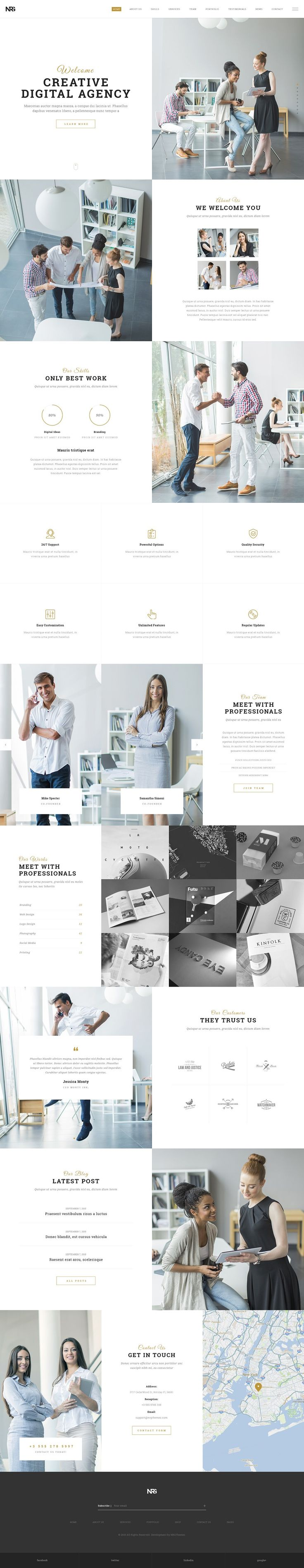 Business WordPress Theme for Creative Agencies! #wordpress #web #design