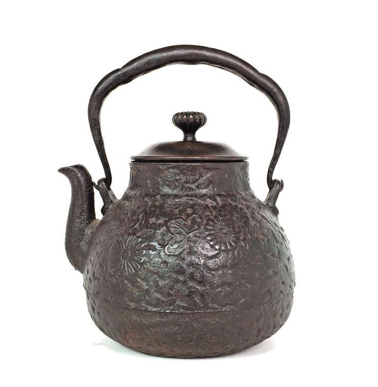 Antique Japanese Tetsubin Cast Iron Teapot 19th / Early 20th Century  鉄瓶  No 2