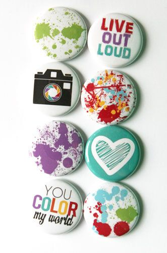 Color My World Flair by aflairforbuttons on Etsy, $6.00