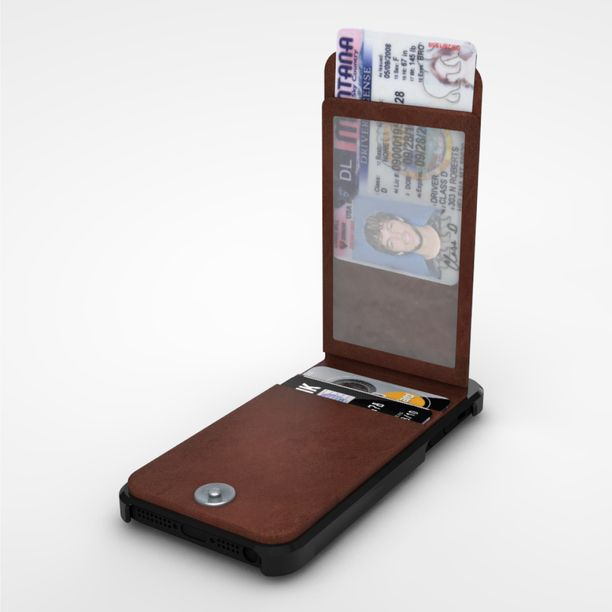 The Keeper (iPhone 5 Case) - Like some other iPhone wallet cases, the $34.99 case features a leather holder for two credit cards and a clear ID window.