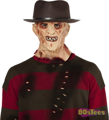 This Freddy Krueger hat is made to fit over our Nightmare on Elm Street Freddy Krueger mask.