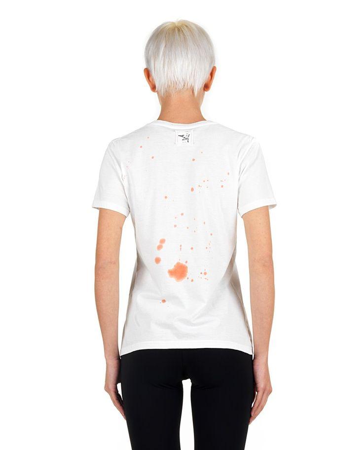 SIL White T-shirt  Pirates/Dexter print round neckline short sleeves  back logo 100% CO