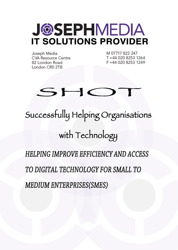 SHOT,is a program that works for helping organisations and enterprises get access confidently with digital technology,enhance their IT skills and fulfill their career prospects with a strong sense of worth and reliability..