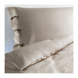 LINBLOMMA Duvet cover and pillowcase(s) - King - IKEA LINBLOMMA Duvet cover and pillowcase(s), natural $89.99 The price reflects selected options Article Number: 201.900.99 The natural fibers in linen create subtle variations in the surface which gives your bed linen a distinctive texture and matte luster.
