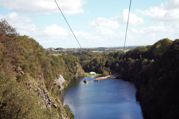Zip Wires (ziplines) at Adrenalin Quarry near Cornwall in England.  Did this with my parents.  This is a really great zipline!