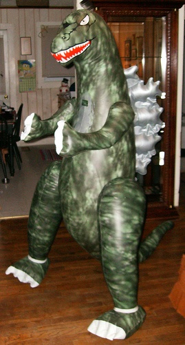 Inflatable Godzilla...Merry Christmas Donny 1989!! | things my 5 ...