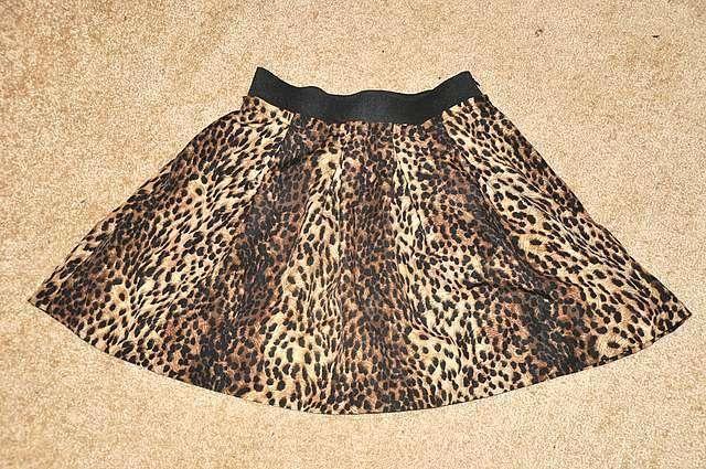 Леопардовая юбка zara