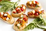 Bruschetta Recipe -- this quick and easy bruschetta recipe packs loads of fresh ingredients and comes together in under 10 minutes, perfect as an appetizer or even as a meal! | unsophisticook.com