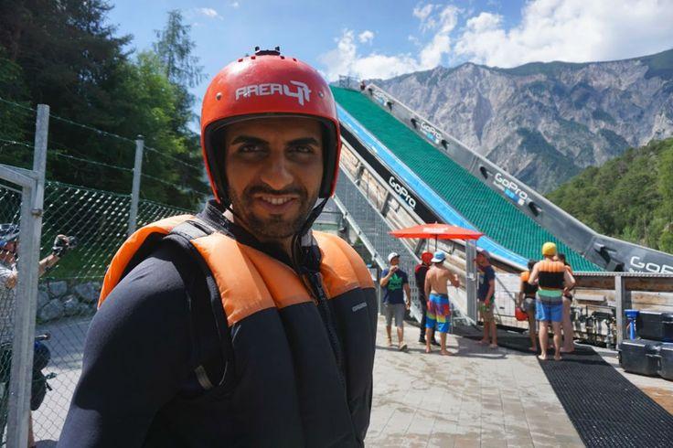 Der #Neoprenanzug und der #Helm sind ein Muss für diese #Rutsche. #area47 #tirol #ötztal #bergsport #bergspass #berge #alpen #funpark #gopro #action