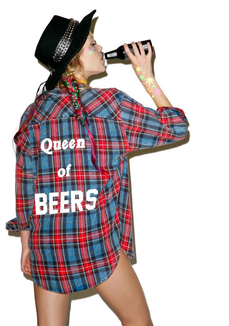 The Laundry Room Queen Of Beers Flannel via @weweartodayID