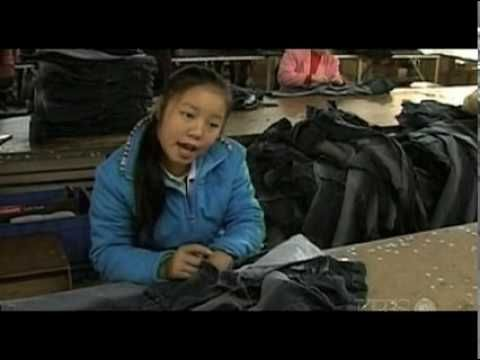 China Blue - Scenes from a sweatshop in China.