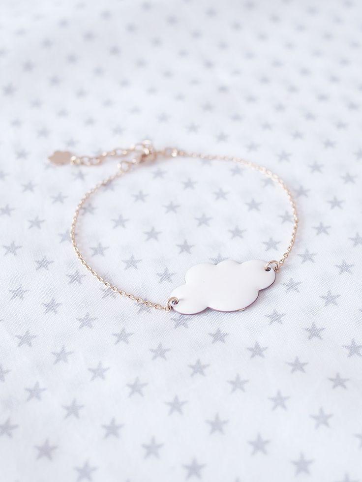 Bracelet Nuage blanc par la créatrice Hop Hop Hop - Youmayloveit