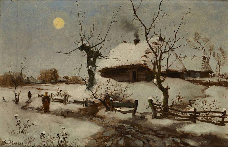 Seweryn Bieszczad, Chaty wśniegu, ok. 1890 rok