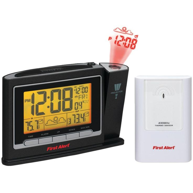 First Alert Radio controlled Weather Station Projection Clock