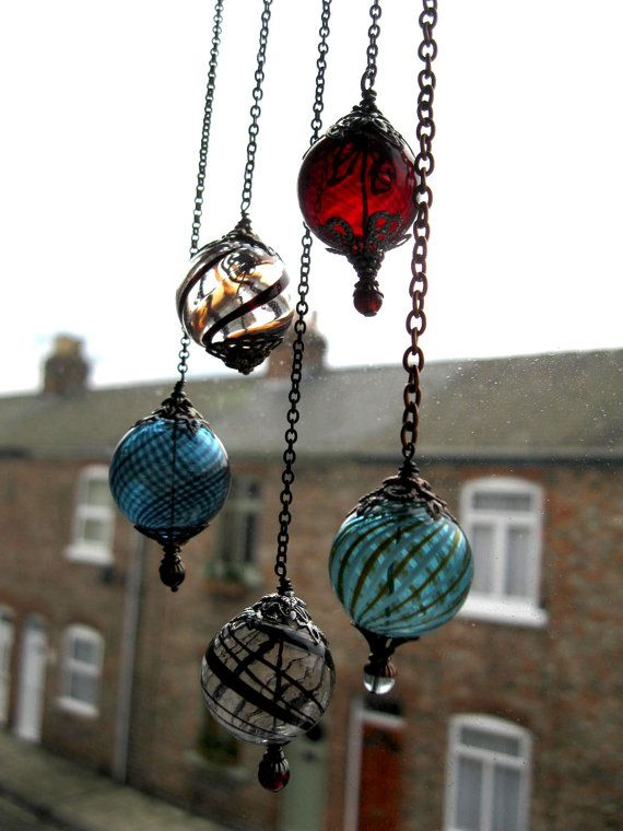 Witch Balls Set of 3 Miniature Witch Balls in door feralstrumpet, £33.00