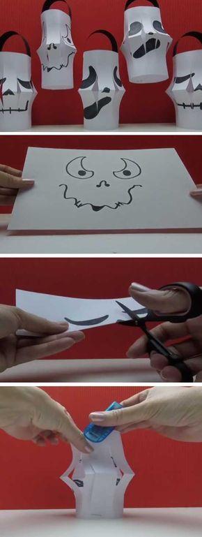 Ghost Jack O Lantern | 20+ DIY Halloween Crafts for Kids to Make