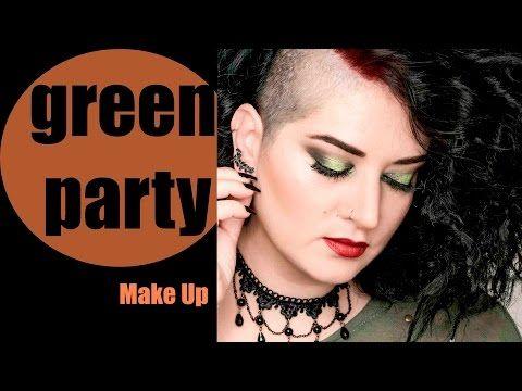 Green Party Make-up Epecial Fiestas//Aranzazu G Make Up - YouTube