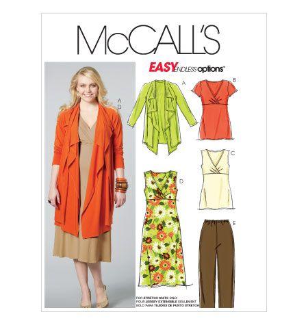 M6127   Women's Jacket, Tunics, Dress and Pants   Plus Size   McCall's Patterns