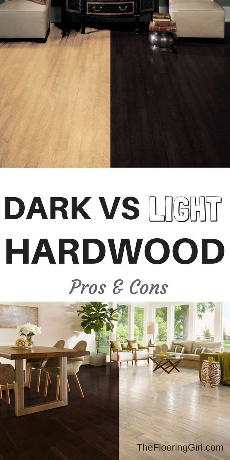 Dark vs Light Hardwood flooring.  Pros and cons for light floors and dark floors.  What's more in style?  Which shows scratches more?  Which is easier to maintain.  Advantages and disadvantage to light and dark hardwoods.  TheFlooringGirl.com.