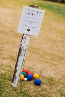 Bocce lawn games - Our rustic DIY backyard wedding - Mornington Peninsula - by Ink Hearts Paper www.inkheartspaper.com.au