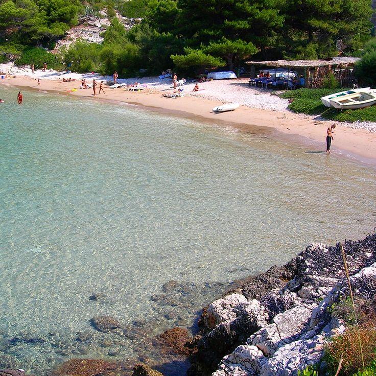 Beach in Vis Island, Dalmatia, Croatia