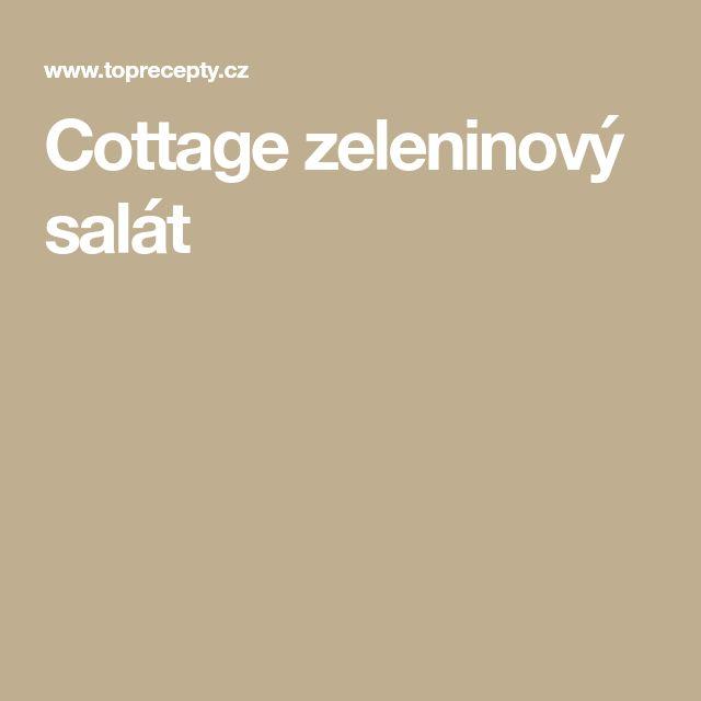 Cottage zeleninový salát
