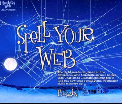 Charlotte's Web online game to help with spelling. Website offers tech tips for teachers.