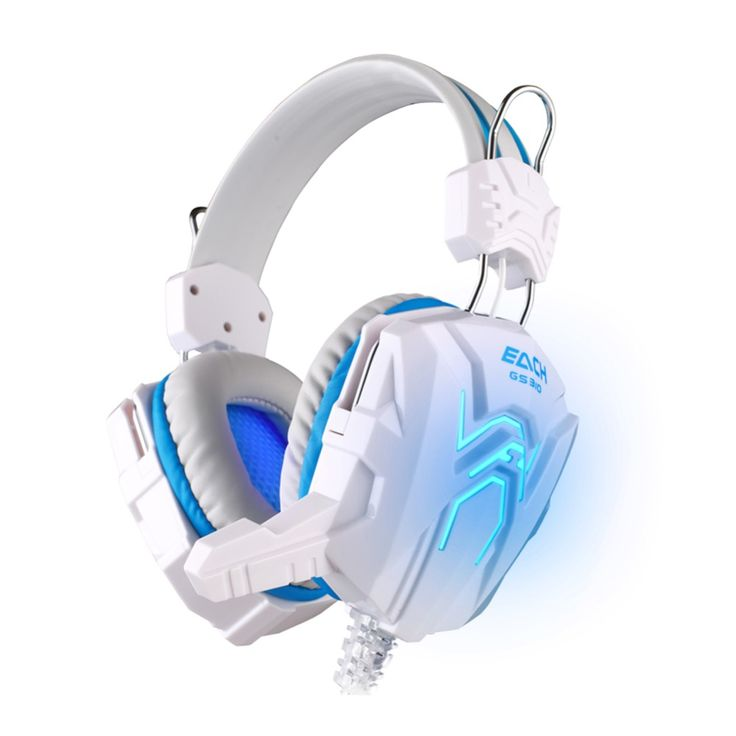 Excellent Gaming Headset EACH GS310 Surround Stereo Headband Headphone Children Gift with USB Mic LED Light for Game PC Laptop