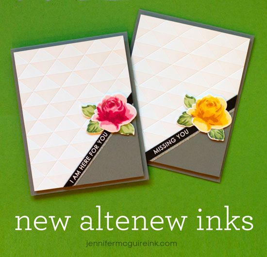 Altenew Inks and Stamp Layering Video by Jennifer McGuire Ink