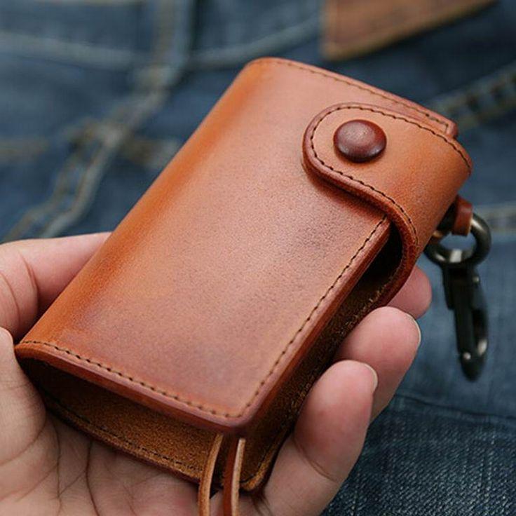 New Brand Men Genuine Cow Leather Bag Business Car Key Wallets Luxury Gift For Men & Women Housekeeper Holders Key Bag Case M66