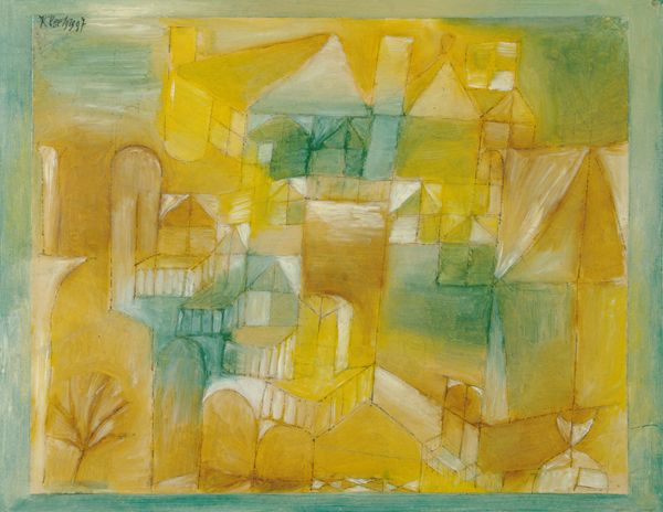 Paul Klee - Fassade braun grün