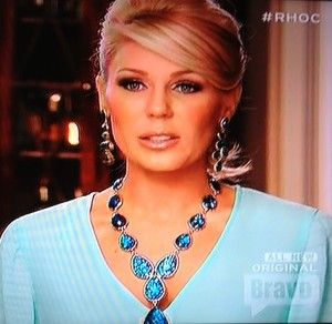 Gretchen Rossi's Blue Interview Necklace & Earrings http://www.bigblondehair.com/real-housewives/rhoc/gretchen-rossis-blue-interview-necklace-earrings/