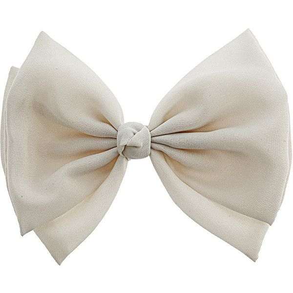 Dorothy Perkins Large cream hair bow ($4) ❤ liked on Polyvore featuring accessories, hair accessories, bows, hair, fillers, cream, dorothy perkins, hair bows and hair bow accessories