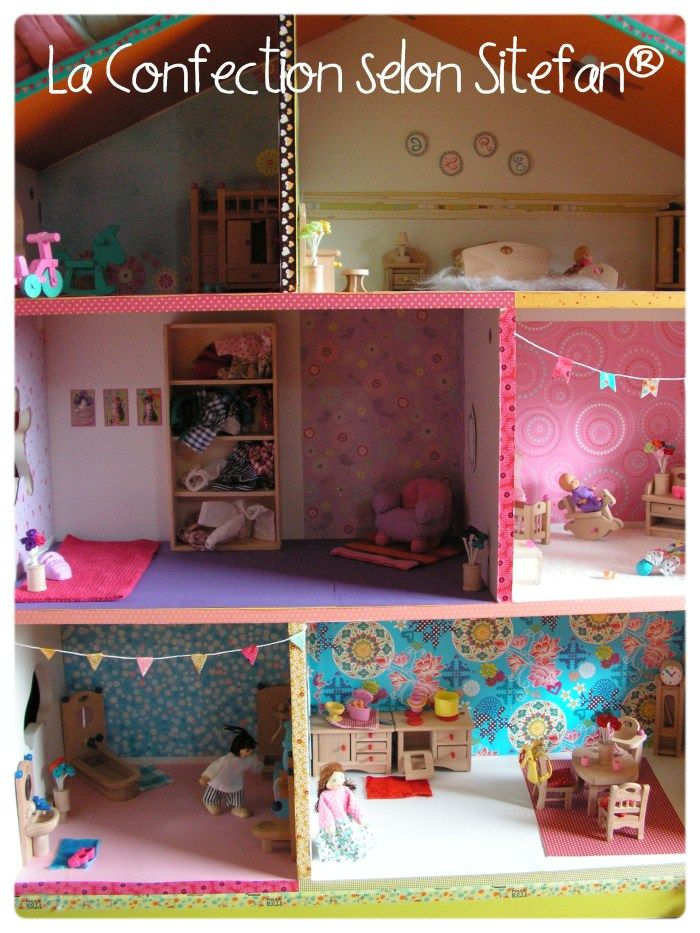 47 best maison de poup e images on pinterest doll houses. Black Bedroom Furniture Sets. Home Design Ideas