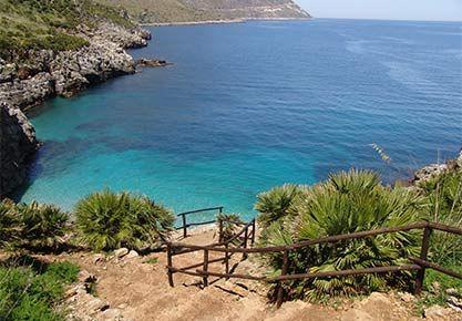 A turquoise sea awaits