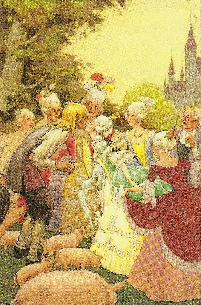 """The Swineherd"" Art by Rudolf Koivu - A Hans Christian Andersen Fairy Tale - Denmark"