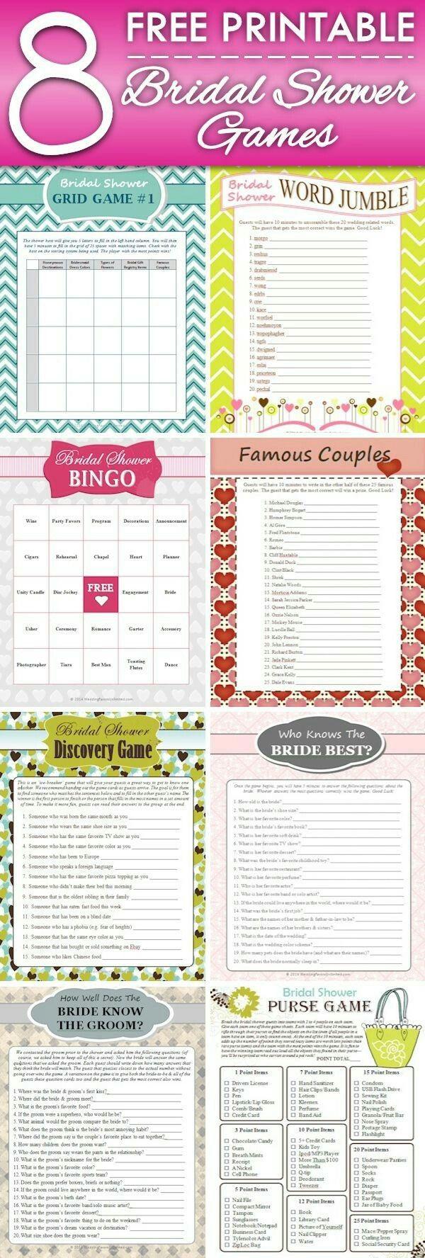 64 besten Bridal Shower Game Bilder auf Pinterest | Hochzeiten ...