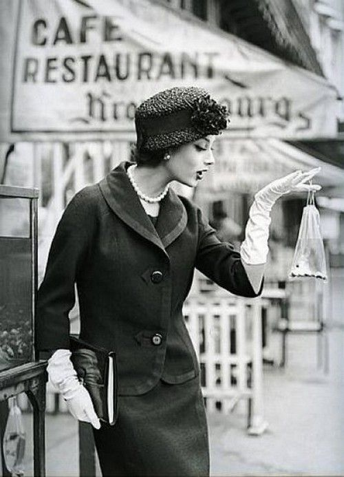 -Vintage Style, Marie-Helene Arnaud with a fish in Paris, 1957. Photo by Georges Dambier. <3