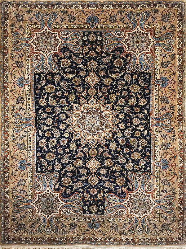 tappeto persiano isfahan seta  extra fine