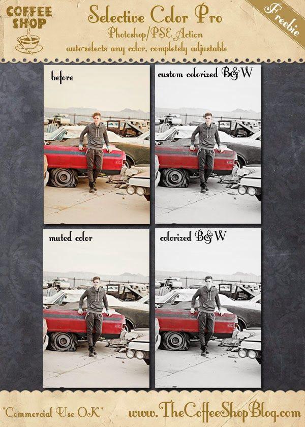 CoffeeShop Selective Color Pro Photoshop/PSE Action!