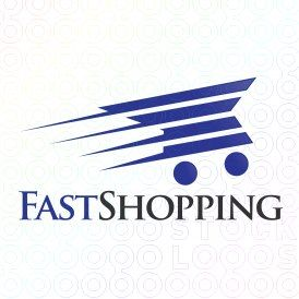 Exclusive Customizable Shopping Cart Logo For Sale: Fast Shopping | StockLogos.com
