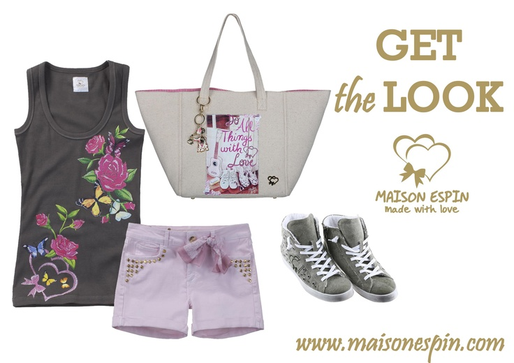 Get the look#maisonespin #look #outfit#chic#springsummercollection13 #womancollection #top #lovely #MadewithLove #romanticstyle #milano#clothing #shopping #iloveshopping#sportychic