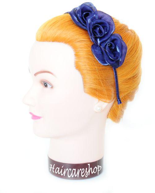 Haircareshop Haaraccessoires - Diadeem roosjes - blauw