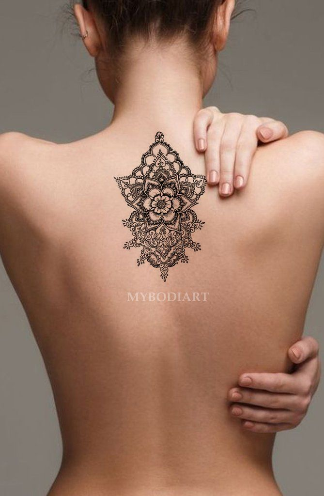 10 Henna Designs For Back Beautiful Back Tattoos Floral Back