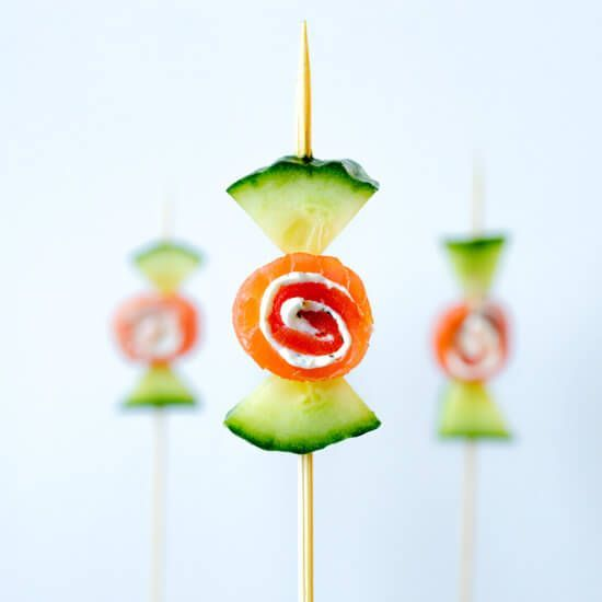 """Cucumber smoked salmon """"candy"""" 