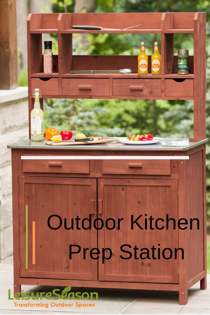 Entertain Like There Is No Tomorrow With Our Perfectly Multifunctional Outdoor Kitchen Prep Station With S Outdoor Kitchen Kitchen Prep Station Outdoor Cooking