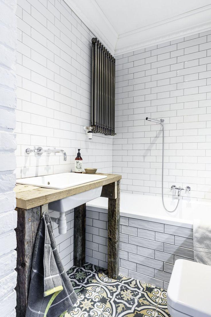 187 kitchen 187 kitchen sinks 187 nativestone 187 farmhouse double bowl - Modern Home With Bath Room Pedestal Sink Soaking Tub Wood Counter Drop