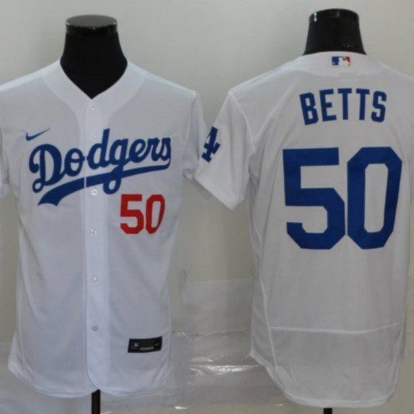 New Los Angeles Dodgers Mookie Betts White Jersey In 2020 White Jersey Mookie Betts Dodgers