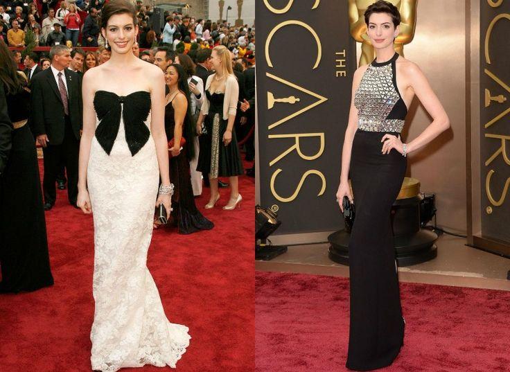 Celebrity na Oscarech tehdy a nyní - Anne Hathaway